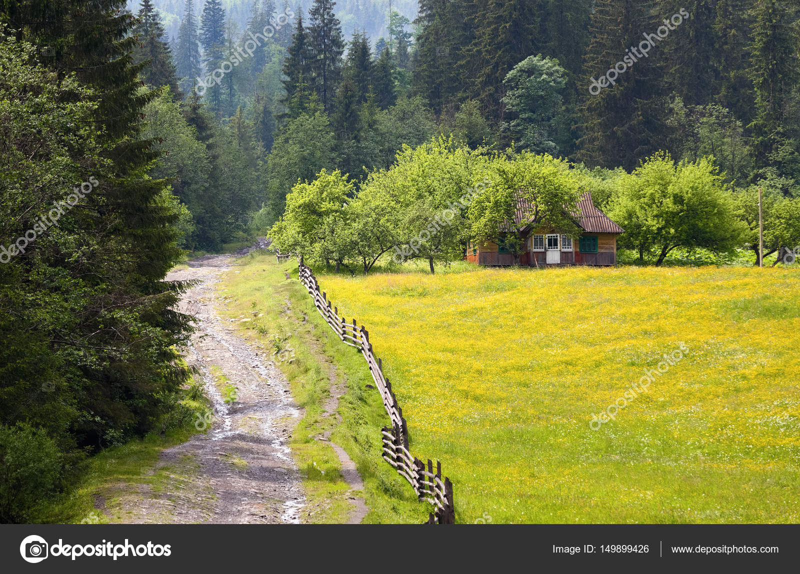 Old Wooden Hut In The Garden. U2014 Stock Photo