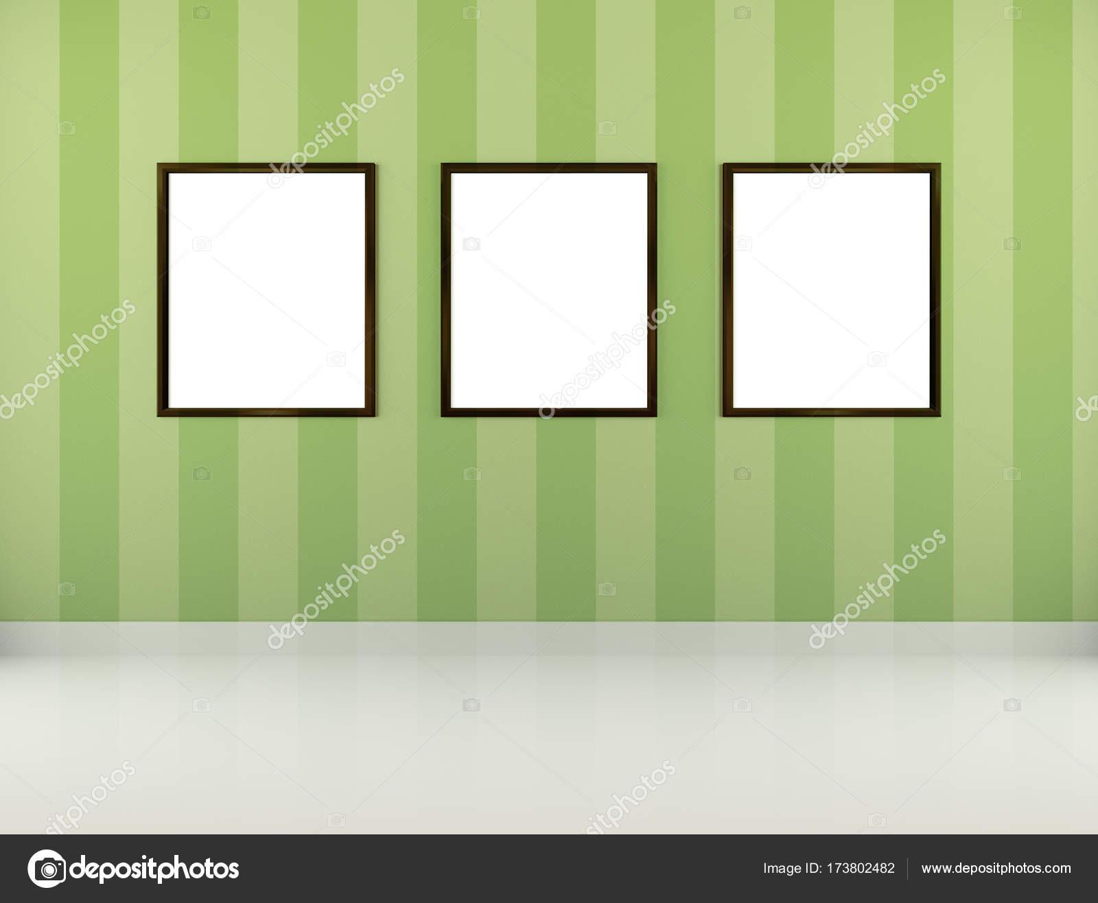 drei weiße leere Bilderrahmen — Stockfoto © Jezper #173802482