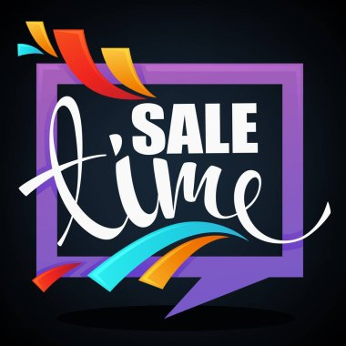 glossy and shine sale banner looks like a frame on dark backgrou