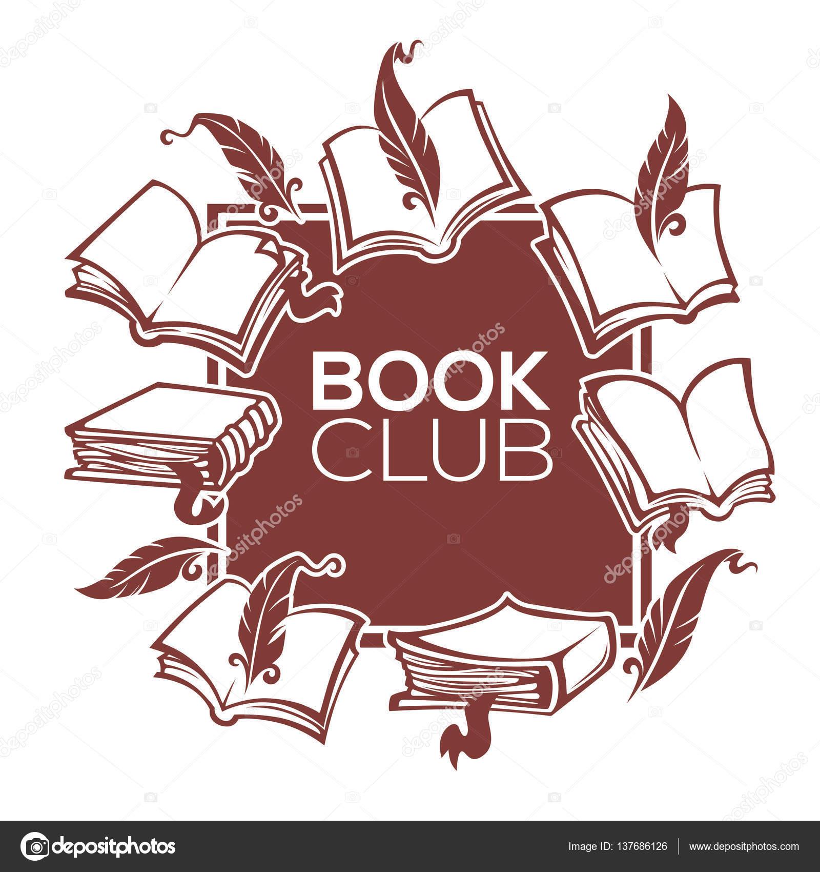 Buch-Club, Bibliothek und Shop, Vektor-Template-Design für Ihr ...