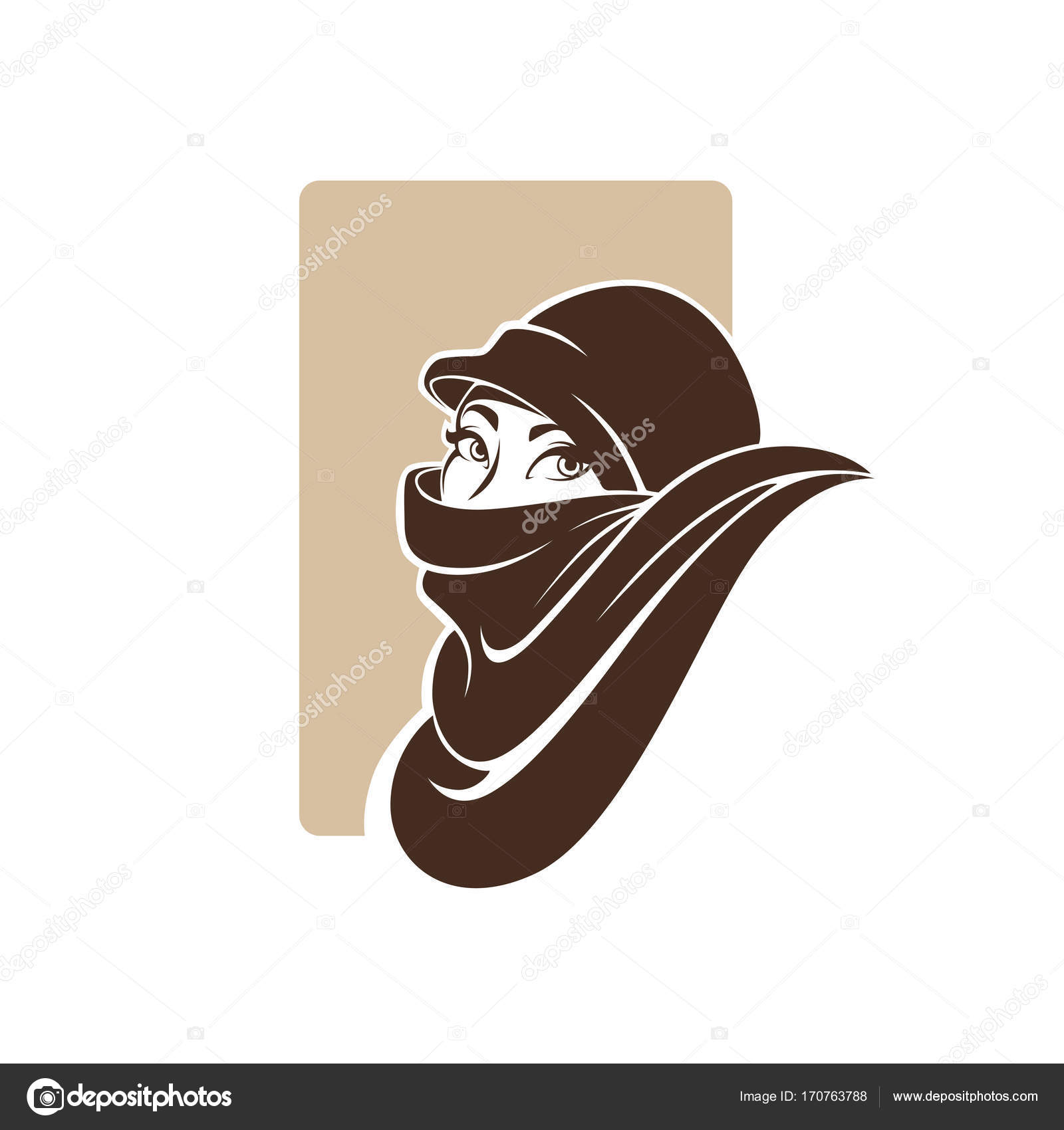 Beautiful Portrait Of Arabic Woman Vector Illustration For You