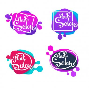 vector logo template for your Nail Studio and manicure salon wit