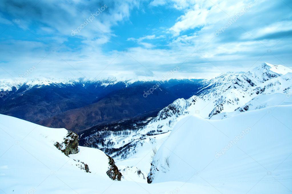 winter hight mountains