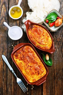 baked pies with meat
