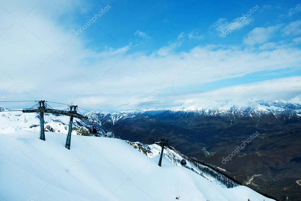 winter mountains in Sochi