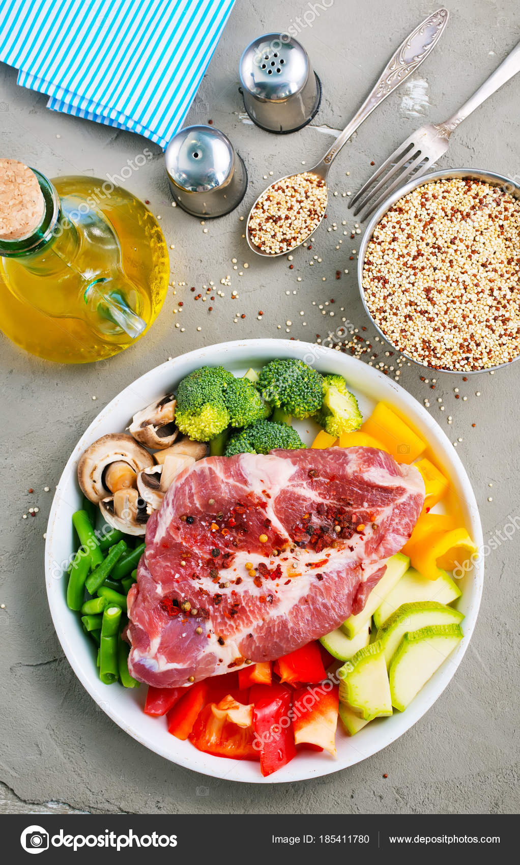 Raw Meat Vegetables Plate Ingredients Dinner Table u2014 Stock Photo & Raw Meat Vegetables Plate Ingredients Dinner Table u2014 Stock Photo ...