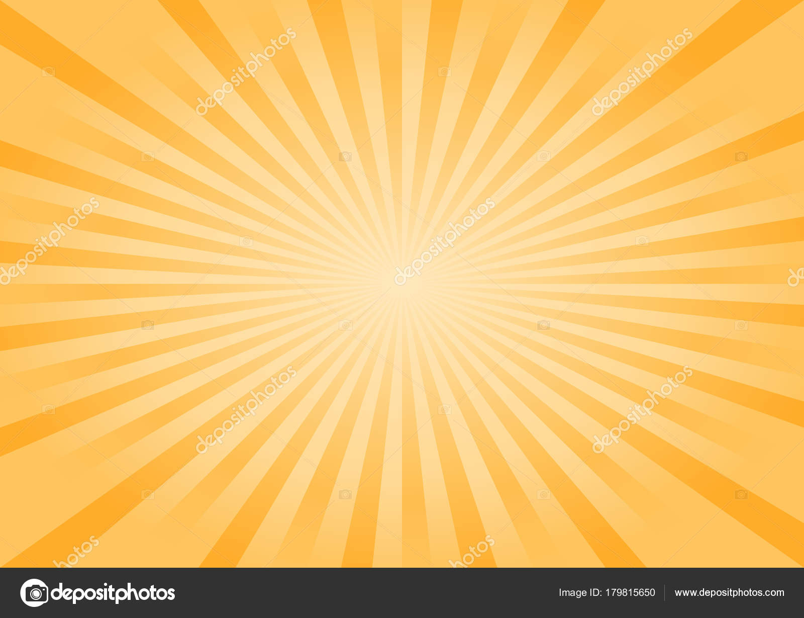 Abstract Bright Yellow Orange Rays Background Vector Eps