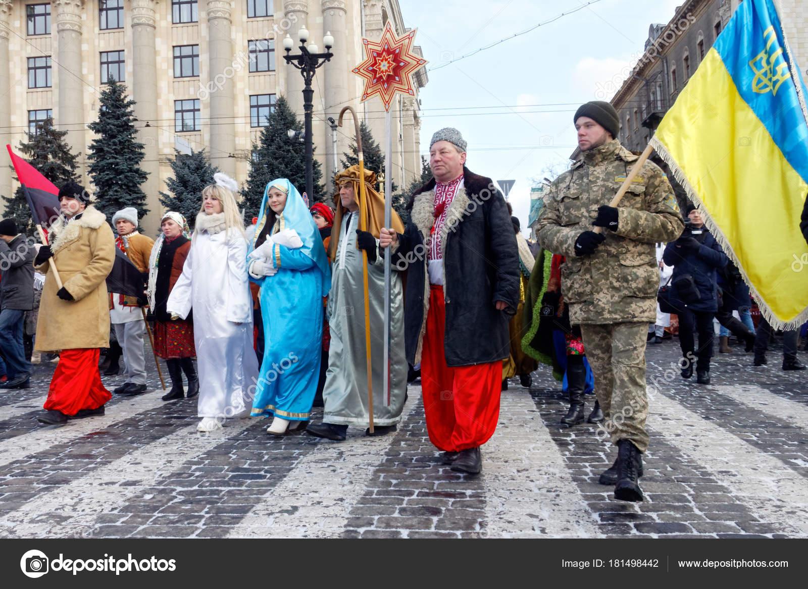 Charkiw Ukraine Weihnachtslieder Januar 2018 Teilnehmer ...