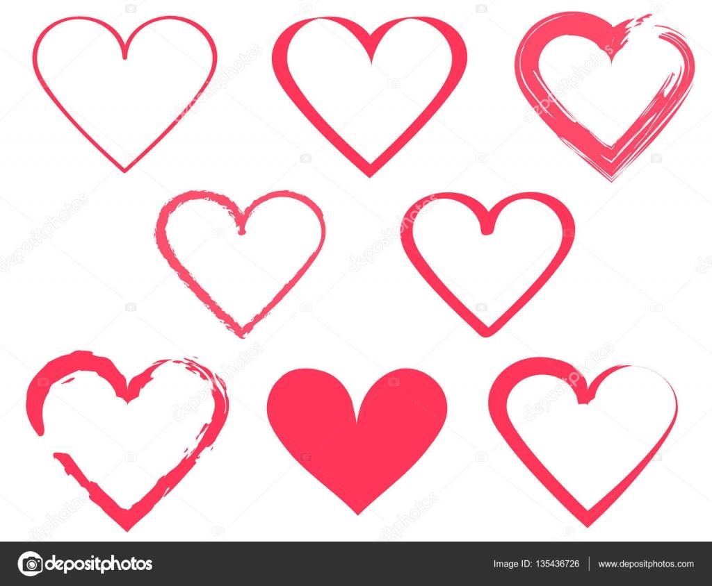 Heart shape design for love symbols stock vector oksanakuprach heart shape design for love symbols stock vector buycottarizona Gallery