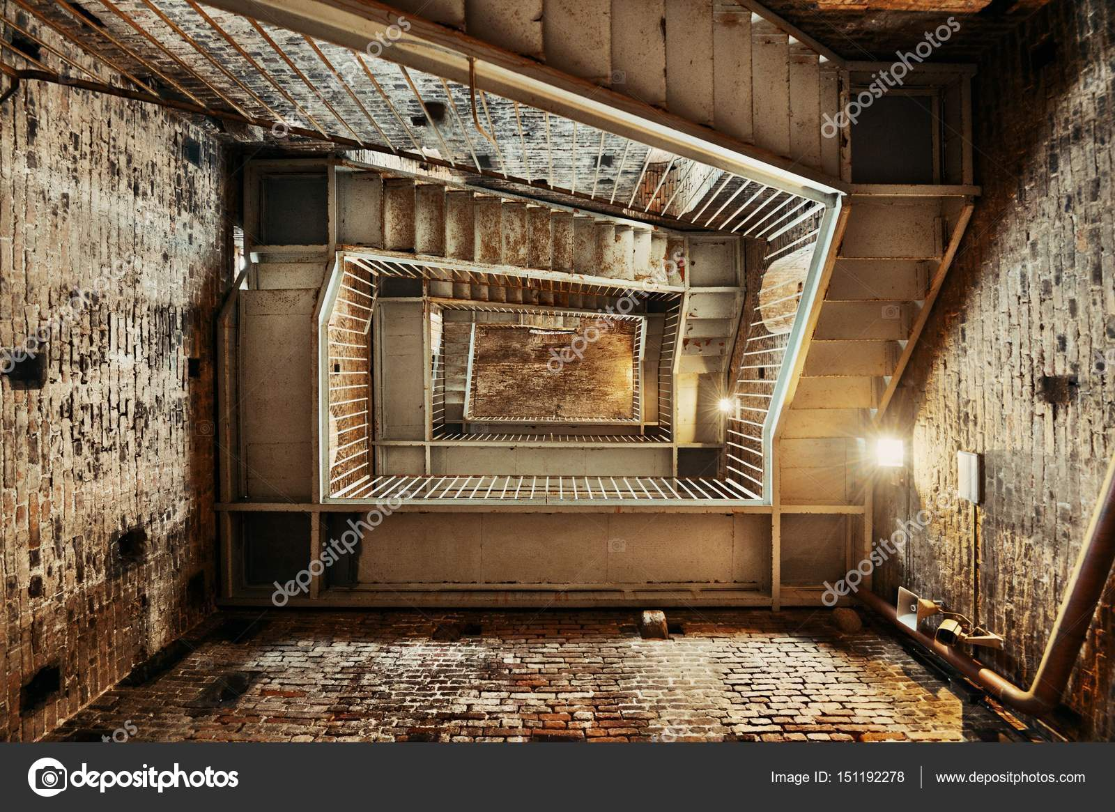 Exceptional Staircase Inside Clock Tower In Lucca U2014 Stock Photo