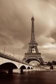 Eiffel Towerand řeky Seiny v Paříži, Francie