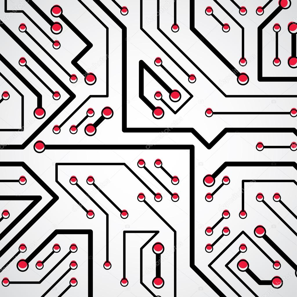 elementi di circuito stampato — Vettoriali Stock © Ostapius #125709044
