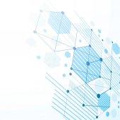 3D Bauhaus abstrakt blau Hintergrund