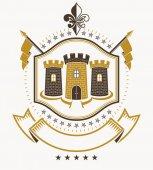 Fotografie Heraldic design, vintage emblem.