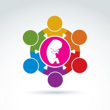 Pregnancy and abortion idea
