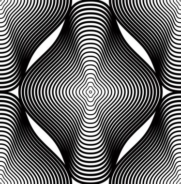 Continuous pattern with black graphic lines
