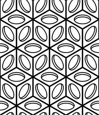 Illusive continuous monochrome pattern