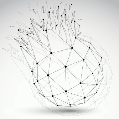 Vector dimensional wireframe object