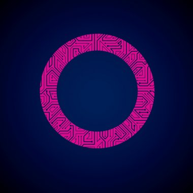 Abstract technology magenta circuit board