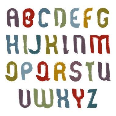 Alphabet capital letters set