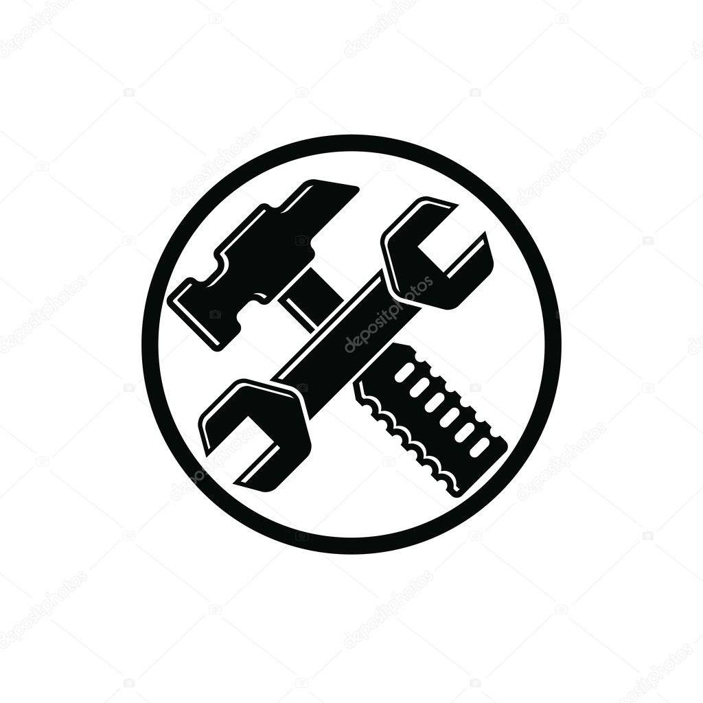 Hammer And Wrench Crossed Stock Vector Ostapius 125714628