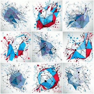 Technical blueprint abstract backdrops