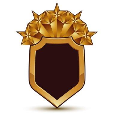 Branded golden geometric symbol