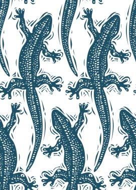 Lizards seamless pattern