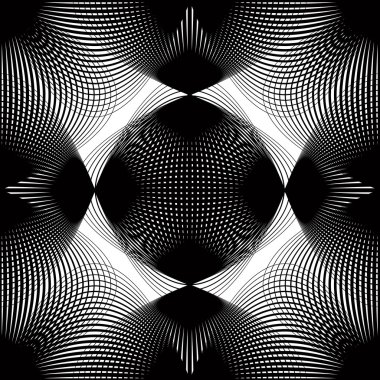 Geometric stripy overlay seamless pattern