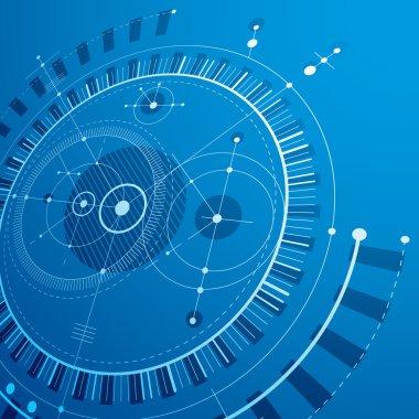 Technical plan, blue engineering draft