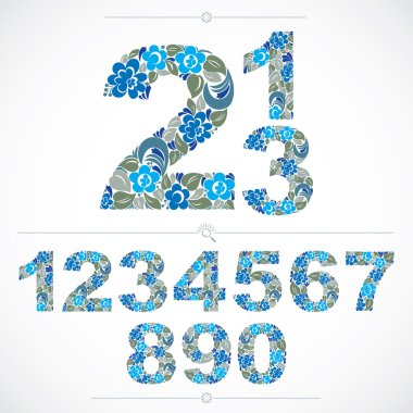 Ecology style flowery numbers