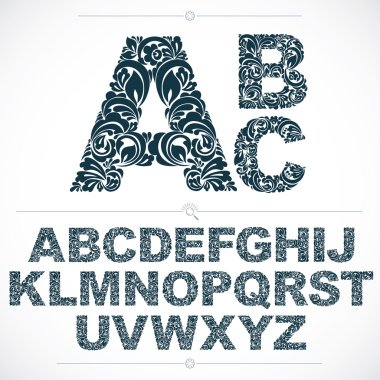 Set of beautiful capital letters