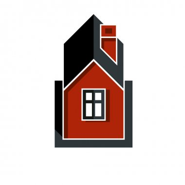 Real estate simple business icon