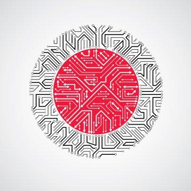 Abstract computer circuit board