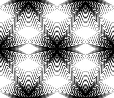 Illusive abstract seamless pattern