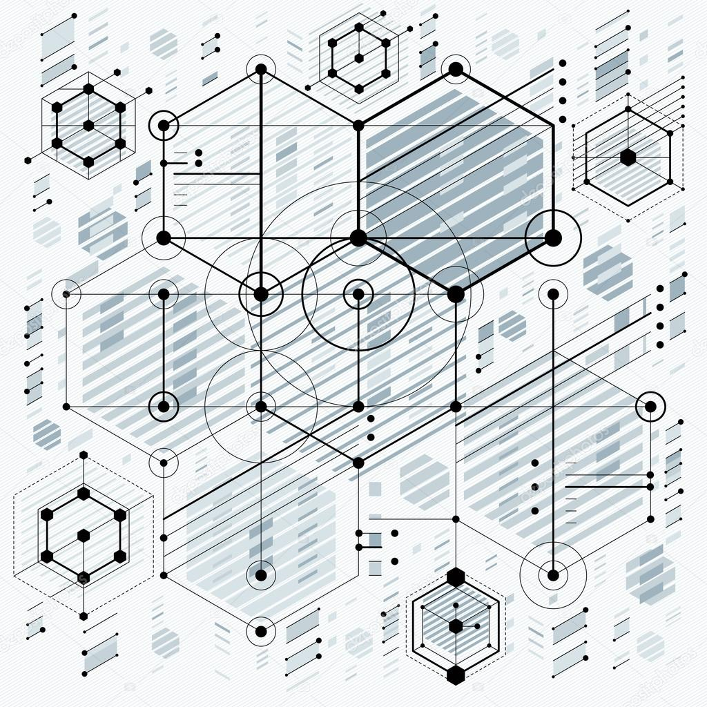 Papel De Parede Desenho Industrial Tecnologia Do Futuro Vetor De