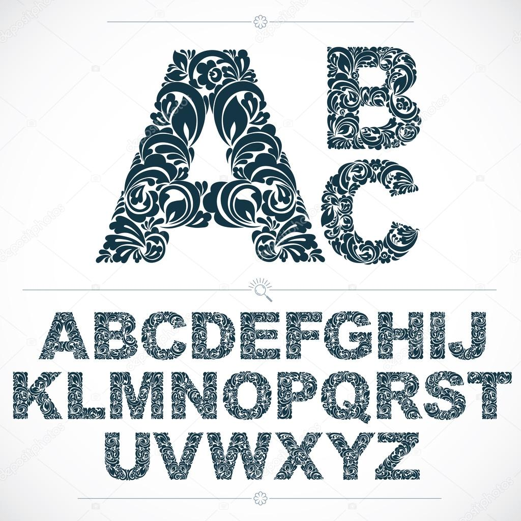 Set of beautiful capital letters