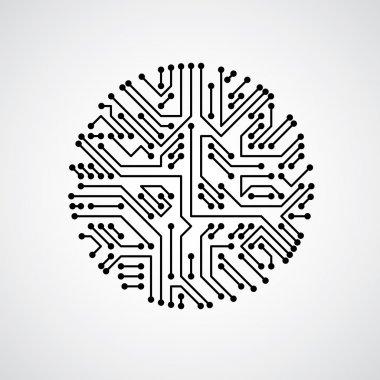 Futuristic cybernetic scheme