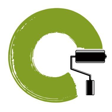 Spiral curve brushed circular shape
