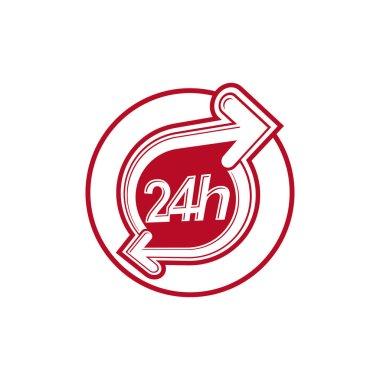 24 hours service logo icon