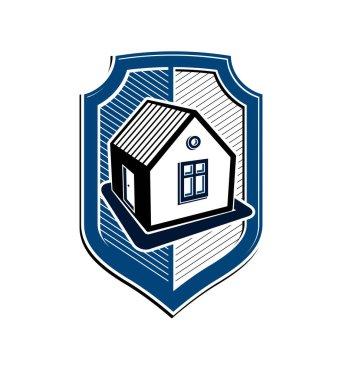 house, real estate insurance logo