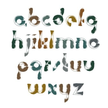 bright calligraphic font, watercolor letters