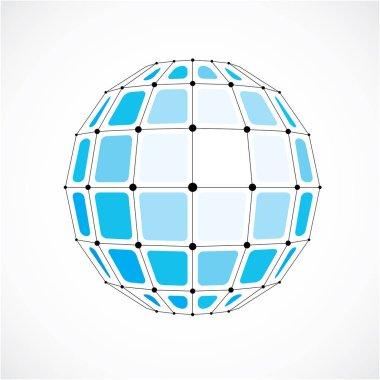 Abstract geometric 3d globe
