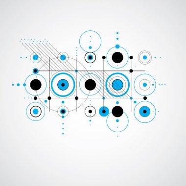 retro abstract geometric engineering background