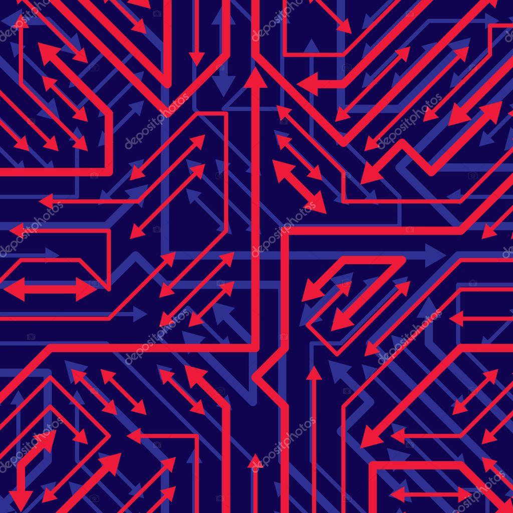Platine Mikrochip Hintergrund — Stockvektor © Ostapius #129057960