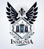 Vintage retro heraldic emblem