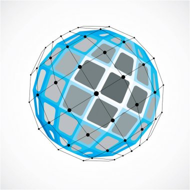Abstract geometric 3d globe