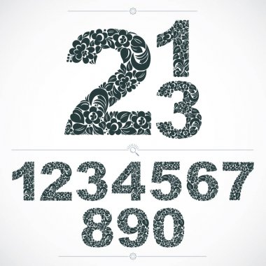 Floral numerals, numbers ser