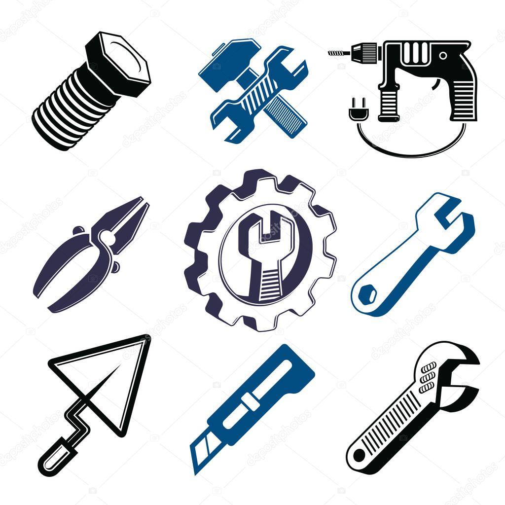 Set of 3d repair tools elements