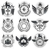 Fotografie Vintage heraldic emblems set